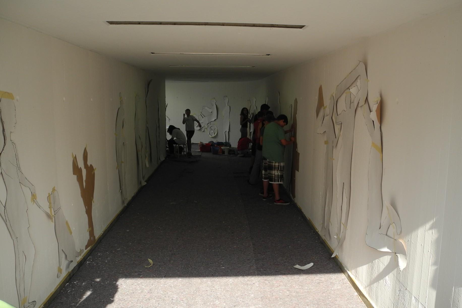 Graffiti Gestaltung Mittelschule